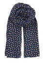 Fine Summer Star Cotton Scarf - Classic Navy additional image
