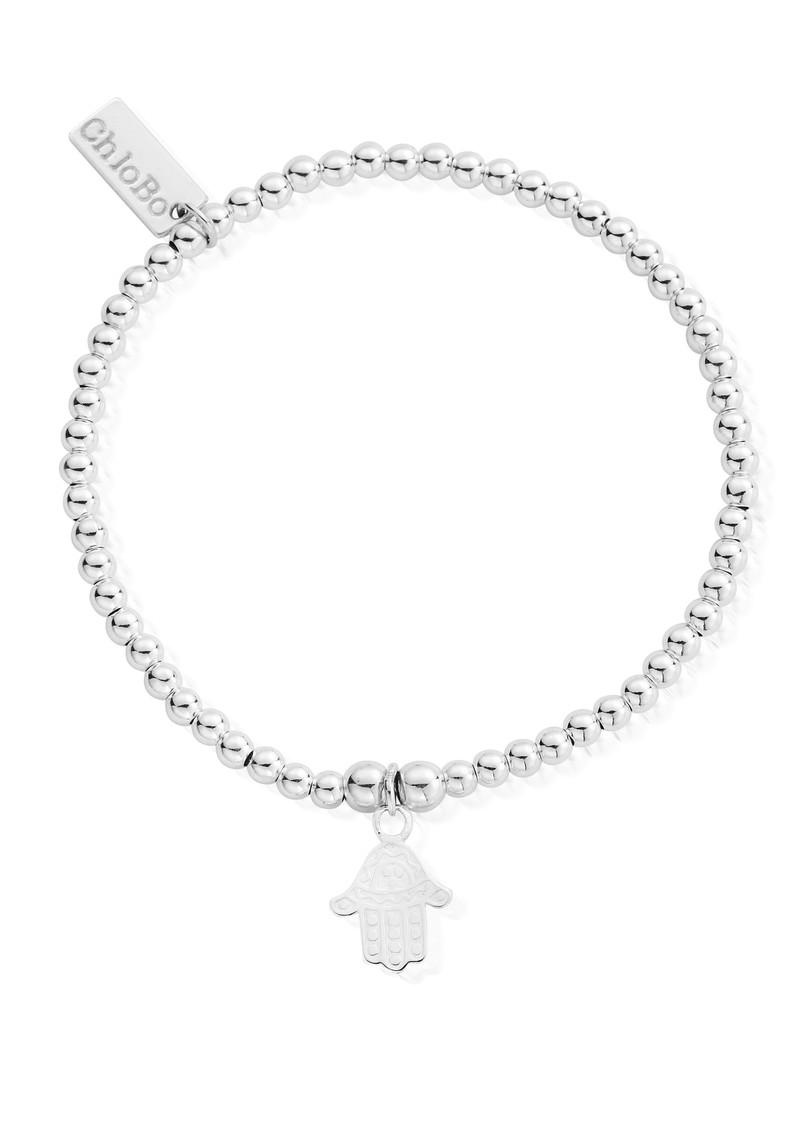 ChloBo Cute Charm Bracelet with Hamsa Hand Charm - Silver main image
