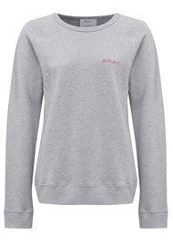 MAISON LABICHE Amour Cotton Sweatshirt - Grey