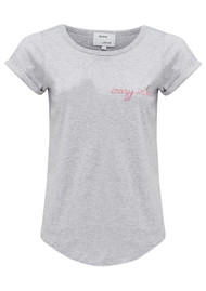 MAISON LABICHE Crazy in Love Cotton Tee - Grey