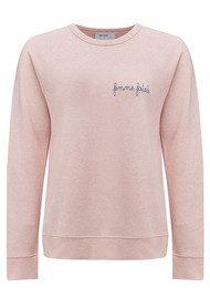 MAISON LABICHE Femme Fatale Cotton Sweatshirt - Pink