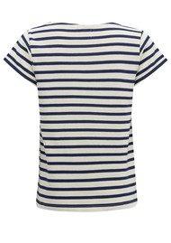 MAISON LABICHE Femme Fatale Stripe Cotton Tee - Ivory & Blue