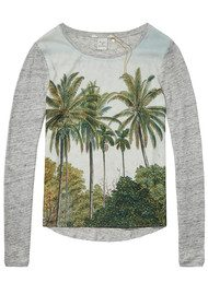 Maison Scotch Photo Printed Palm Tree Tee - Combo B