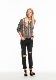 Maison Scotch Printed Embellished Shirt - Combo A