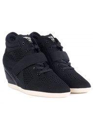 Ash Bebop Knitted Wedge Trainers - Black