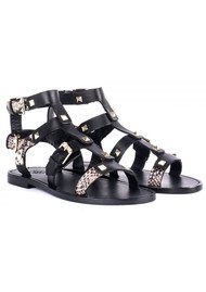 Ash Morocco Buckle Cobra Sandals - Black