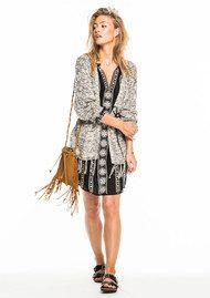 Maison Scotch Kimono Belted Cardigan - Combo A