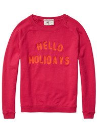 Maison Scotch Summer 'Hello Holidays' Sweatshirt - Tropical Pink