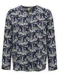 Des Petits Hauts  Ginyu Silk Shirt - Indigo