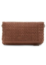 Liebeskind Aloe Woven Leather Bag - Cognac