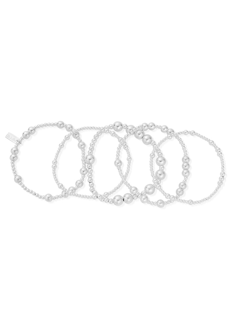 Set of 5 Random Bracelets - Silvers main image