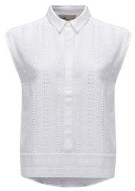 Paul and Joe Sister Bergamo Cotton Top - Blanc