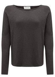 American Vintage Sonoma Long Sleeve Tee - Carbon