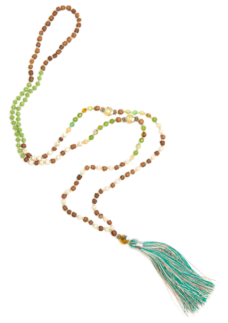 TRIBE + FABLE  Single Tassel Necklace - Rain Forest main image