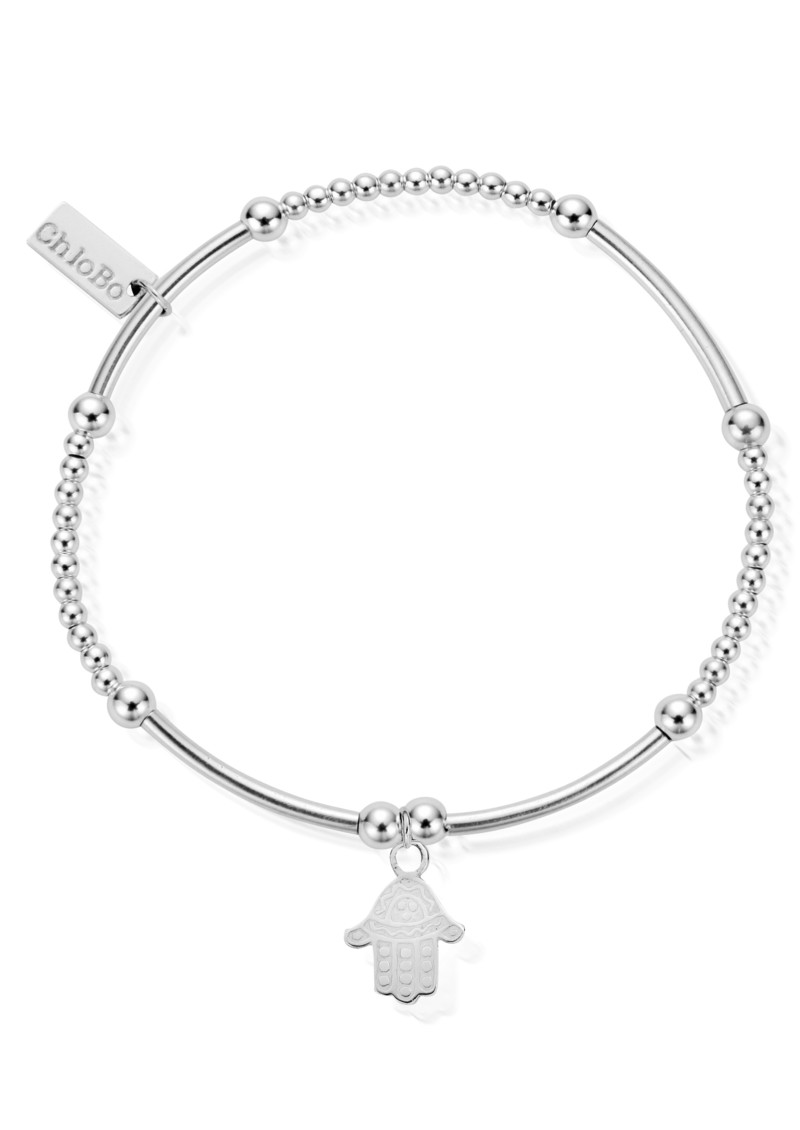 ChloBo Cute Mini Bracelet With Hamsa Hand Charm - Silver main image