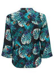 Pyrus Hive Silk Blouse - Tropic Print