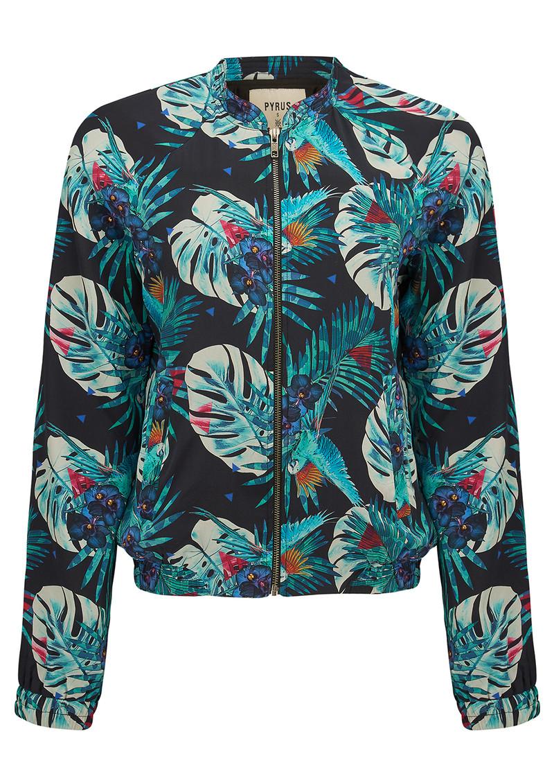 Pyrus Ivy Bomber Jacket - Tropical Print main image