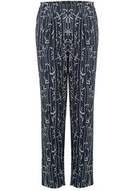 MY SUNDAY MORNING Miguel Printed Trousers - Bambou