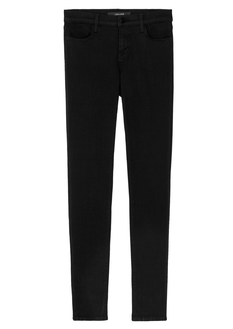 J Brand 620 Mid Rise Skinny Jeans - Seriously Black main image