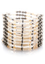 San Michele Beaded Cuff Bracelet  - Khaki additional image