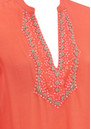 Nova Embellished Plunge Tunic - Coral additional image