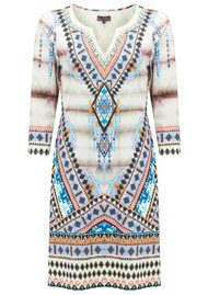 Hale Bob Lenora Printed Dress - Taupe