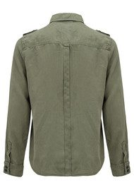 Frame Denim Le Military Shirt - Military Green