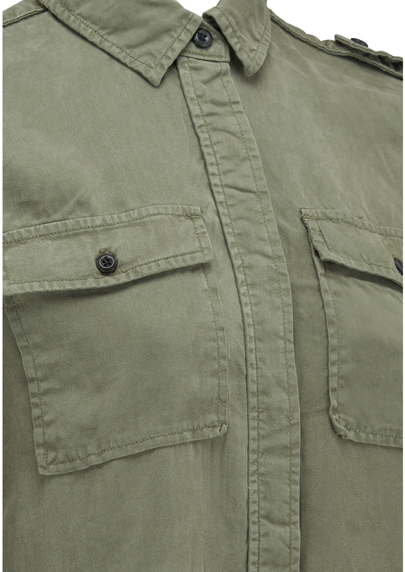 Frame Denim Le Military Shirt - Military Green main image