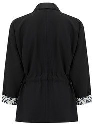 MY SUNDAY MORNING Meghan Kimono Jacket - Black Aquarelle