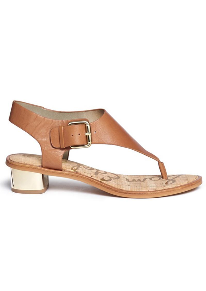 Sam Edelman Tallulah Buckle Sandal - Saddle main image