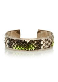 OPALE Hopi Python Bleached Cuff - Fluo Yellow