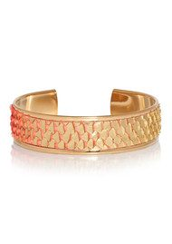 OPALE Hopi Python Cuff - Gold & Coral