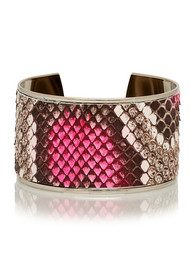 OPALE Navajo Python Bleached Cuff - Fluo Pink