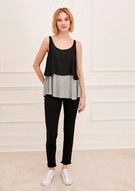 Great Plains Lucille Layered Vest - Pale Grey Melange