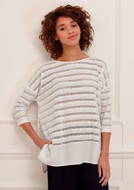 Great Plains Tabitha Long Sleeve Top - Seasalt Combo