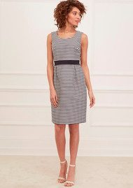 Great Plains Bella Brenton Stripe Dress - True Navy & Seasalt