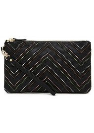 MIGHTY PURSE Mighty Purse Woven Wristlet Clutch - Tribal Black
