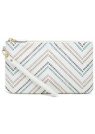 MIGHTY PURSE Mighty Purse Woven Wristlet Clutch - Tribal White