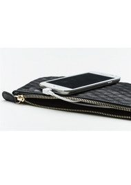 MIGHTY PURSE Mighty Purse Wristlet Clutch - Snake Grey & Yellow