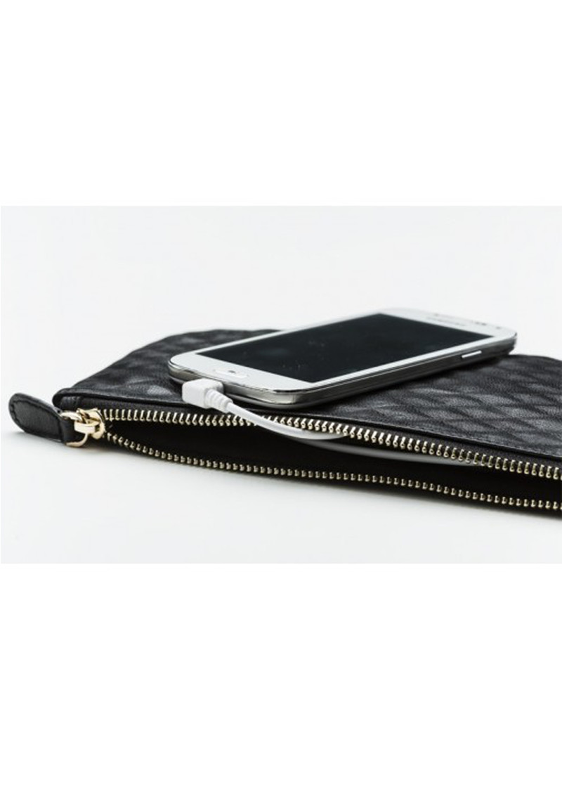 MIGHTY PURSE Mighty Purse Wristlet Clutch - Snake Grey & Yellow main image