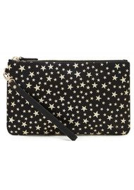 MIGHTY PURSE Mighty Purse Wristlet Clutch - Black & Gold Star