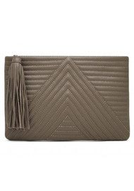 MIGHTY PURSE Mighty Purse Geo Quilted Clutch - Mushroom