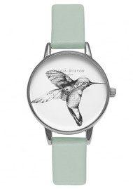Olivia Burton Animal Motif Hummingbird Watch - Mint & Silver