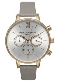 Olivia Burton Chrono Detail Watch - Grey, Gold & Silver
