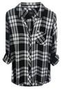 Rails Hunter Shirt - Ebony & White