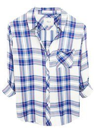 Rails Hunter Shirt - White, Blue, Raspberry