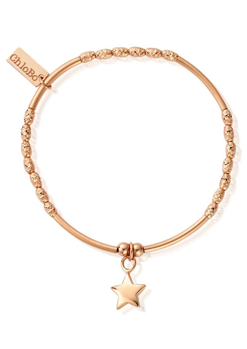 ChloBo Luna Soul Mini Noodle Sparkle Star Bracelet - Rose Gold main image