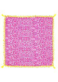 Mercy Delta Anthena Pom Pom Silk Scarf - Madagascar Candy Floss