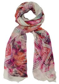 Lily and Lionel Iris Scarf - Coral