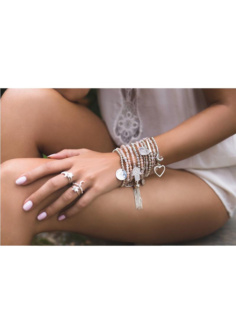 ChloBo Luna Soul Sparkle Ball Tassel Bracelet - Silver main image
